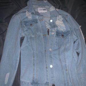 Light washed oversized denim jacket